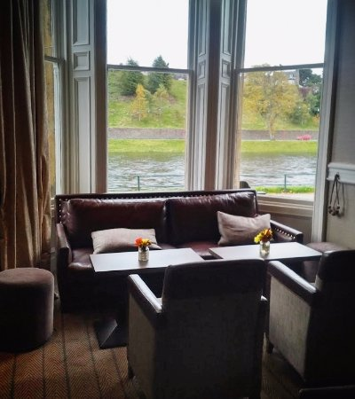 Comfortable lounge area overlooking the Loch.