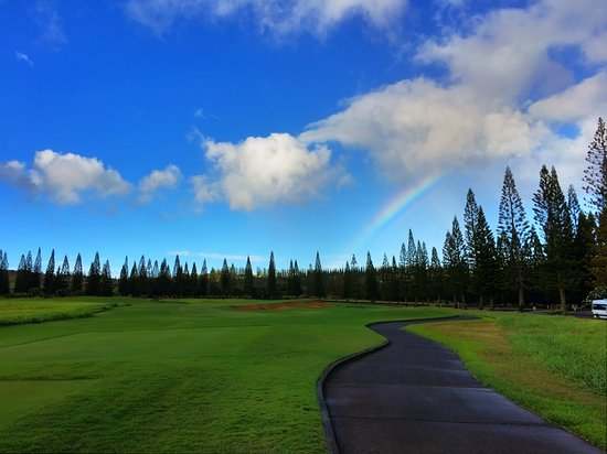 Kapalua Plantation Course: Beautiful Rainbow