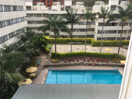 Sarova Panafric: View of pool from our room door