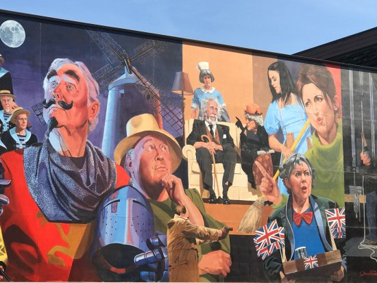 Canada 150 Wall Mural, Bard to Boardway Theater, 110 2nd Avenue, Qualicum Beach, BC