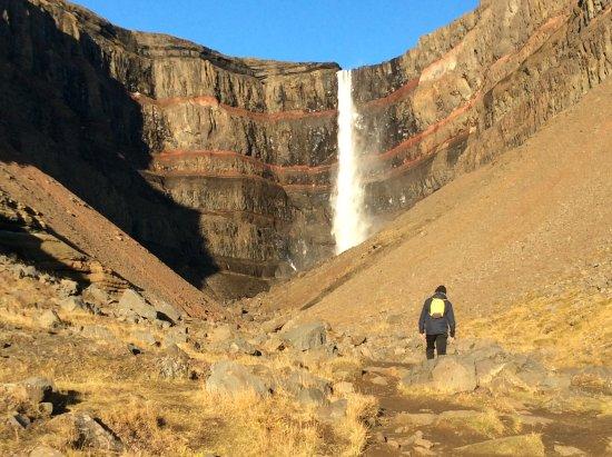 Hallormsstadur, Islandia: Hengifoss waterfall
