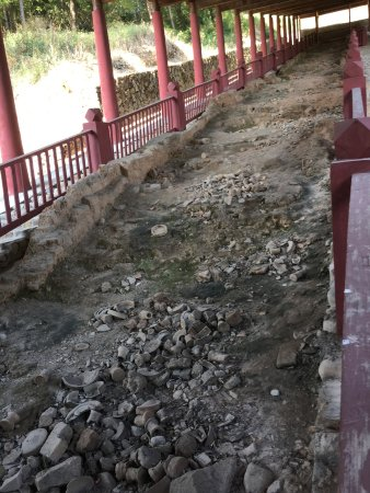 Dehua County, Kina: The excavated dragon kiln site at Qudougong.