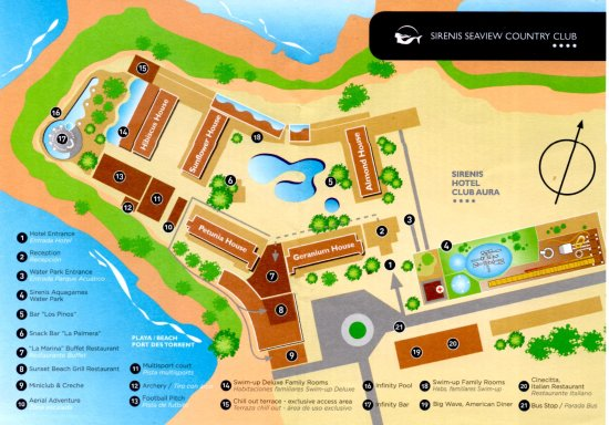 Port d'es Torrent, Spain: Map of the hotel