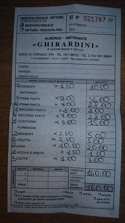 Corniglio, Italia: Conto 4 adutli e 3 bambini