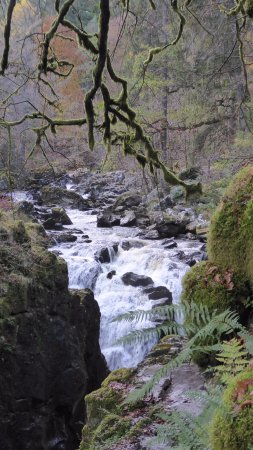 Dunkeld, UK: River Braan,Waterfall,The Hermitage,Ossian's hall