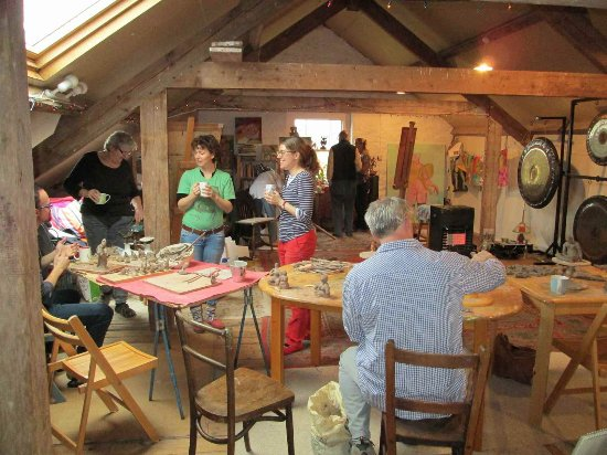 Tiverton, UK: Tea break at my studio in Cove
