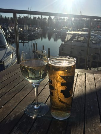 The Boathouse Bar & Restaurant: View from the outside deck