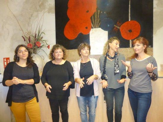 Dieulefit, Frankrike: Les conseillères de l'Office de Tourisme !