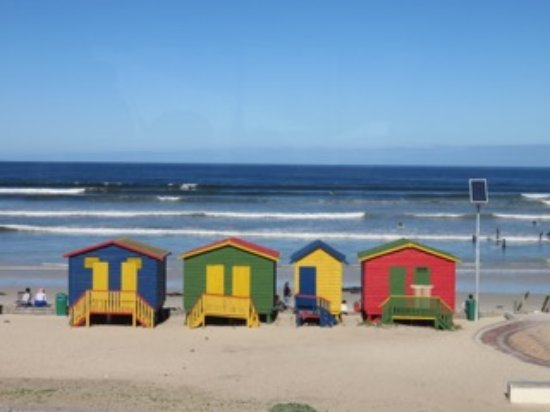 Fish Hoek, South Africa: Muizenberg beach - a surfers paradise