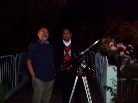 Grand View Hotel: Telescope at night with Astronomer