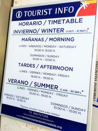 Oficina de turismo pilar de la horadada spanien for Oficina de turismo alicante
