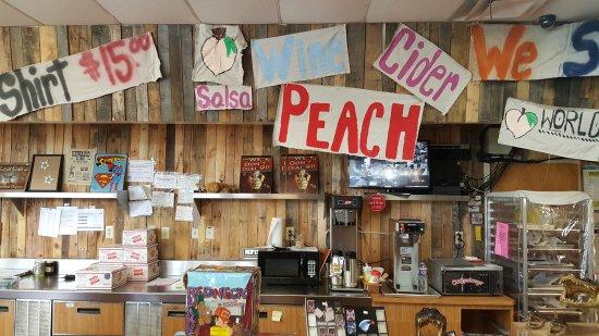 Bill Lewis of Vero Beach, Florida, visiting Georgia Peach World in Townsend, Georgia.