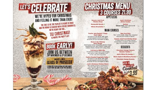 Tgi Fridays High Wycombe Friday S Incredible Christmas Menu Goes Live November 20th