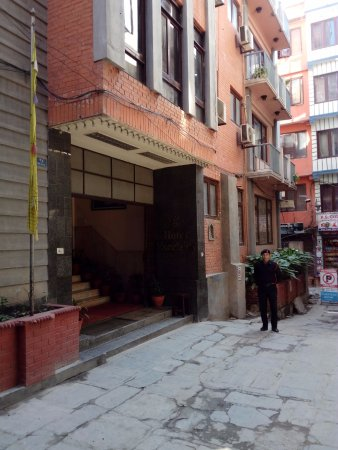 Entrance to Hotel Excelsior, Thamel