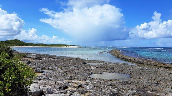 Pointe des Chateaux: Magnifique plage protégé par la barrière de corail