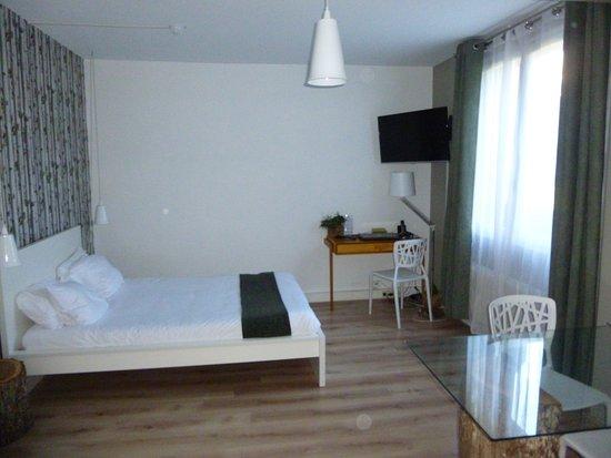 Residence Urbaneva: Chambre très spacieuse -  Vue sur jardin