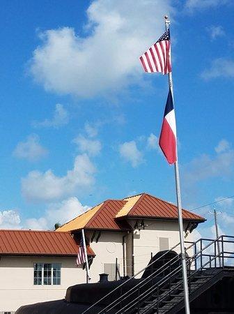 Galveston, TX: Seawolf Park entrance gate
