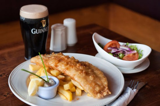 Tower, Ireland: Fish and Chips + Pint of the good stuff