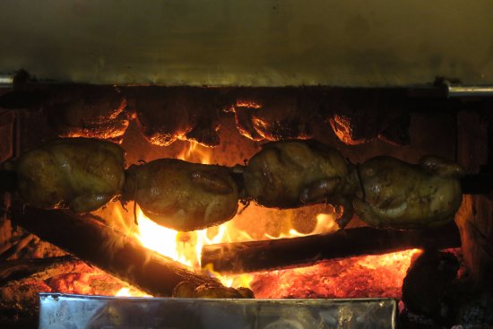 Los Toldos Chicken: Chickens in the roast