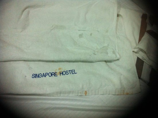 Ashoka Guest House: Towels marked with holes