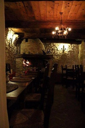 Montefiore Conca, Italien: Sala del camino, accogliente e calda