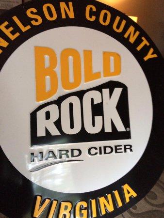 Nellysford, VA: Bold Rock Sign