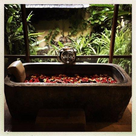 Komaneka at Tanggayuda: bath tub
