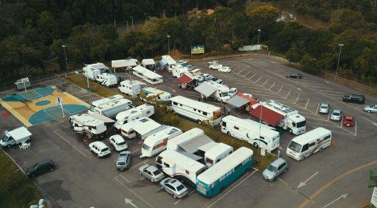 Rio Do Sul, SC: Área de estacionamento do Parque para encontros caravanistas