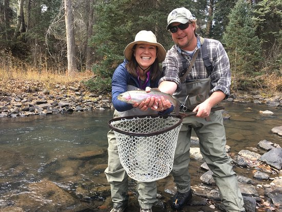 Dolores, CO: Catching trout with our guide