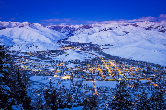 Sun Valley-Ketchum, ID: Glowing City Lights from Ketchum & Sun Valley