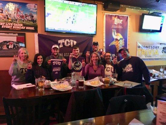 Scoreboard Bar & Grill: TCU watch party. Go Frogs!