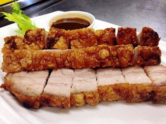 Simon King Chinese Restaurant: Pork Belly and honey chicken ! Please try...