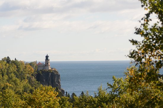 Two Harbors, MN: The view from the western overlook.