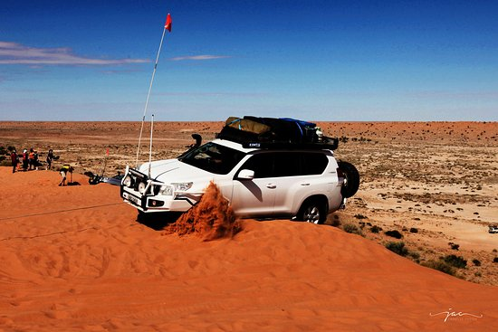 Birdsville, Australia: Gotta do the steepest track - even if it means being winched out the first time!
