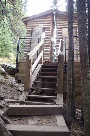 Lake Agnes Tea House: The climb to the toilets is a challenge