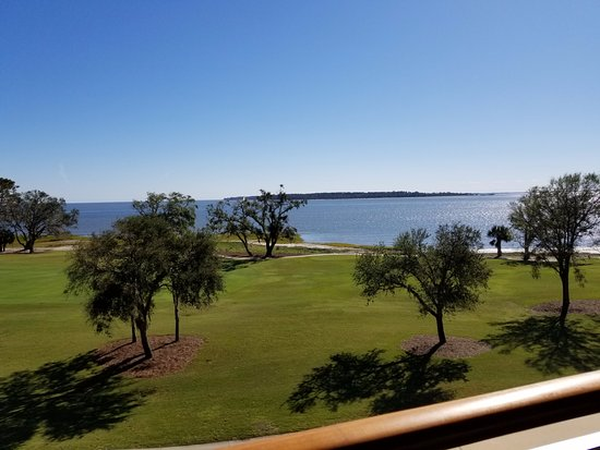 The Lodge at Sea Island: view from balcony in room 34