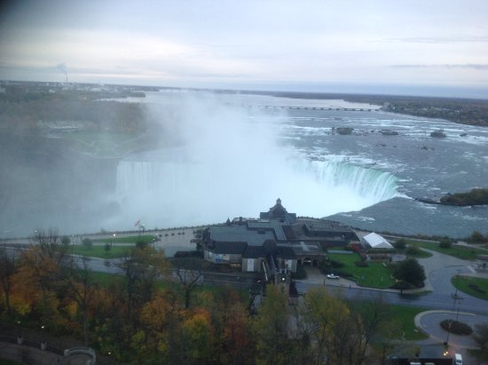 Oakes Hotel Overlooking the Falls: View from the window.