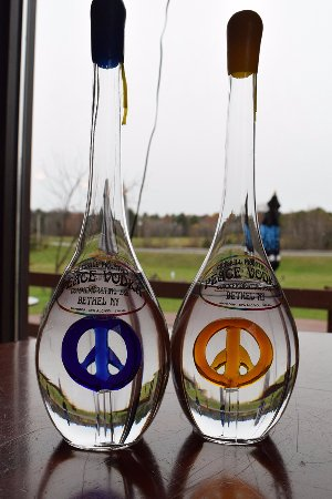 Bethel, NY: Commemorative bottles of vodka.