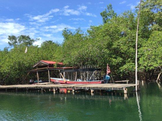 Isla Colon, Panama: Boat dock to paradise