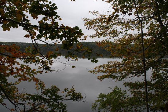 College Corner, OH: Lake view while on hike