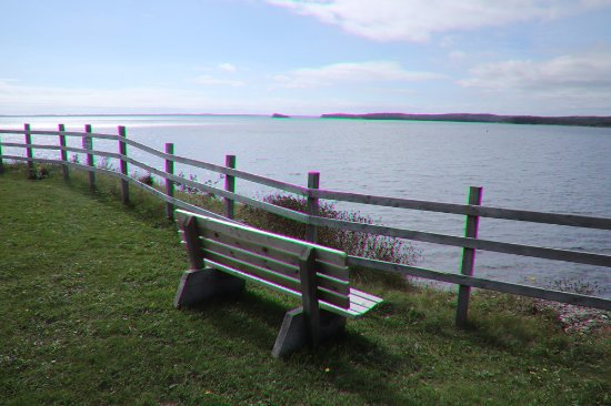 St. Peter's, Canada: A bench to enjoy the view