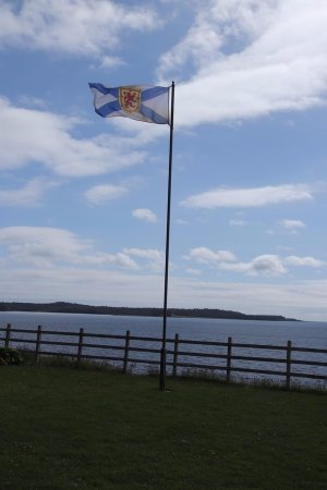 St. Peter's, Canada: The Nova Scotia flag