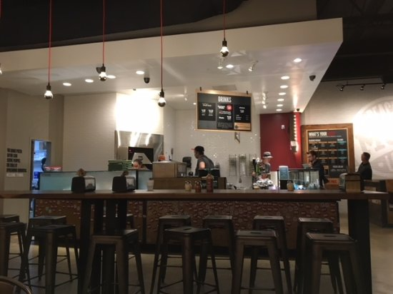 MOD Pizza dining area
