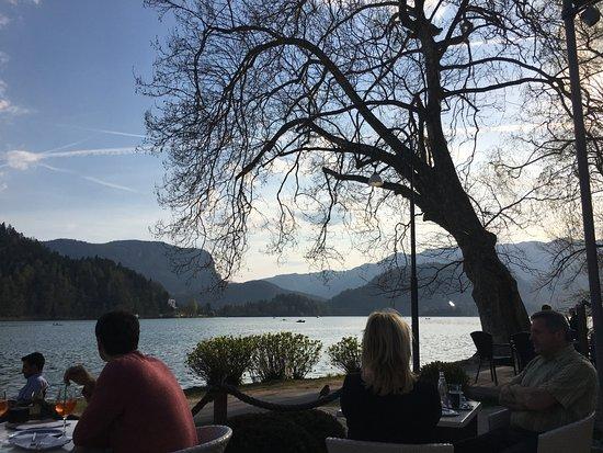 Vila Preseren: overlooking the lake