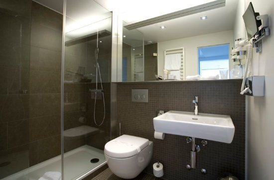 Cully, Suiza: Standard Room Bathroom at Hotel Lavaux