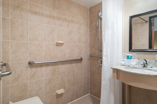 Holiday Inn Express New York City-Wall Street: Guest Bathroom with Roll-In Shower