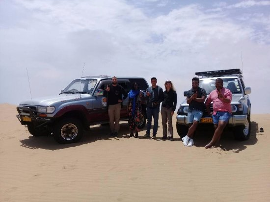 Walvis Bay, Namibia: Happy travellers.