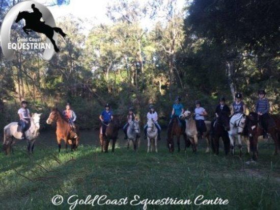 Clagiraba, Australia: Trail ride in our forest