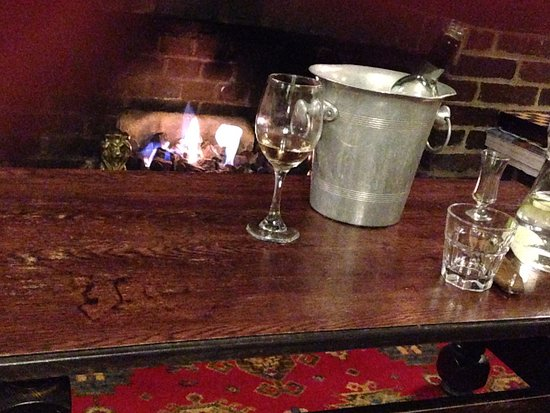 Llandovery, UK: Log fire in the cosy lounge