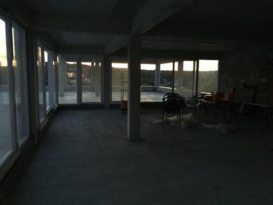 Milna, Croatia: BBQ terrace restaurant under construction
